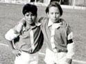 Diego Maradona nelle Cebollitas dell'Argentinos Junior (Foto tratta dal sito ufficiale www.diegomaradona.com)