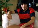 Diego Maradona durante l'infortunio (Foto tratta dal sito ufficiale www.diegomaradona.com)